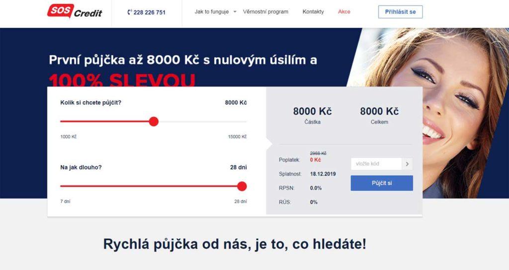 Půjčka SOS Credit