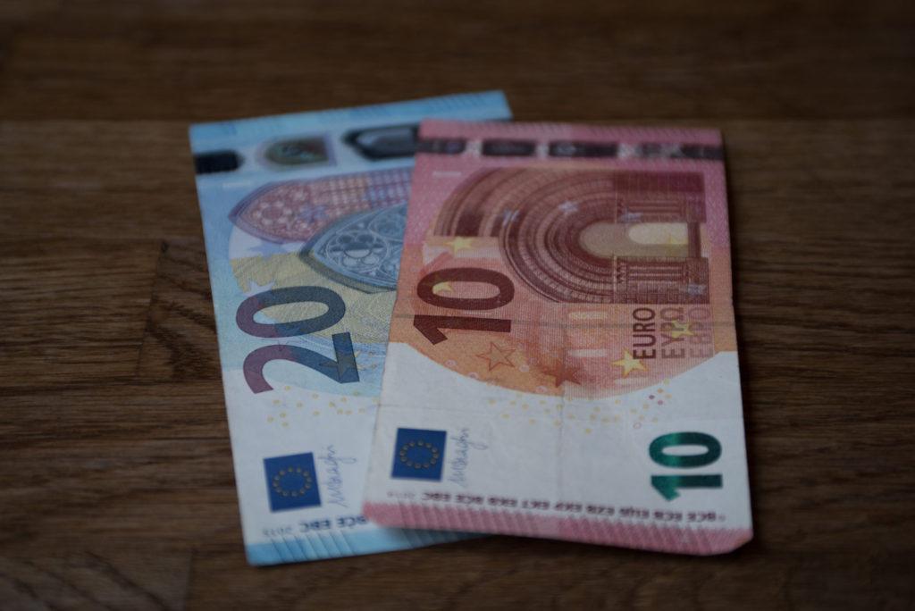 Bankovky, Euro