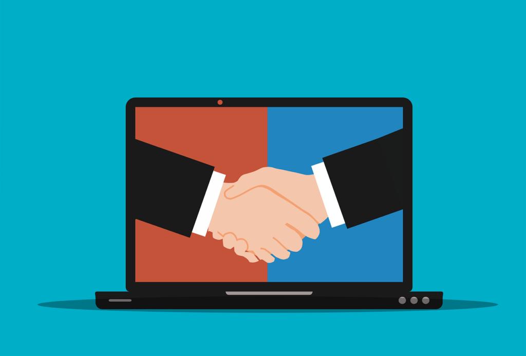 Laptop Handshake Agreement Hands - mohamed_hassan / Pixabay