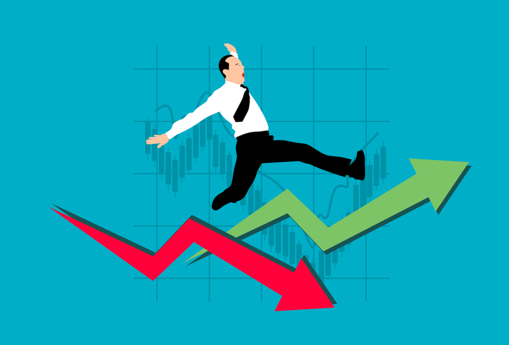 Chart Arrow Businessman Stock - mohamed_hassan / Pixabay